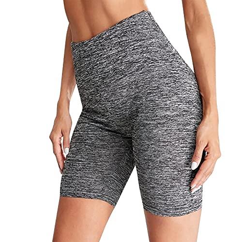 Leggins Mujer de Yoga Color Liso Leggings de Cintura Alta Push Up Shorts Deportivos Suave y Ligero Pantalón Corto Deporte Mujer Transpirable Pantalones Cortos Mujer Ideal para Fitness