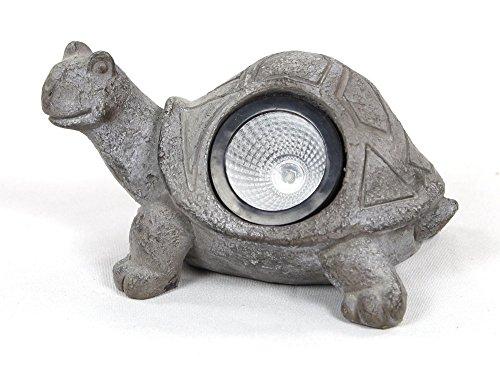Solar-LED Deko Tier-Figur Schildkröte grau