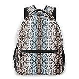 Mochila Mochila para la Escuela, patrón de Piel de Serpiente Bolsas de Viaje novedosas Personalizadas para Correr Deporte, 40 cm (H) x29 cm (W)