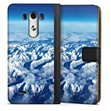 DeinDesign Étui Compatible avec LG G3 Étui Folio Étui magnétique Nuage Neige Montagne