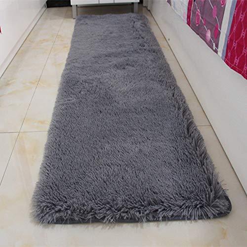 KEAINIDENI toiletmat hoge kwaliteit grote grootte badkamer tapijt vloer tapijt slaapkamer keuken badkamer mat bank tapijt 1 stks rechthoek massief bad mat deuropening tapijt about 50x120cm Grijs