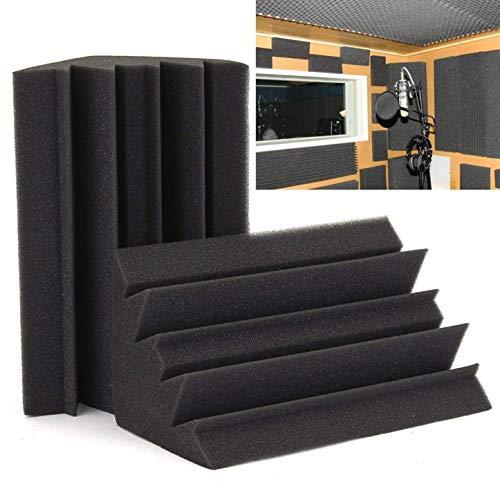 ZXYAN Black Bass Trap Esquina de azulejo Absorbente de Sonido Espuma acústica insonorizada para Kit de Tratamiento acústico