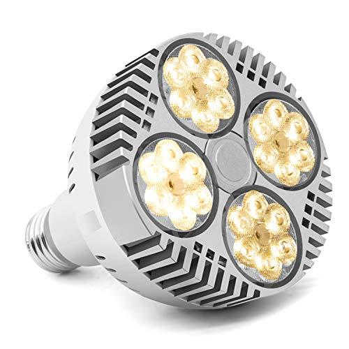 CF Grow LED Pflanzenlicht für Zimmerpflanzen 120W e27 Pflanzenlampe Glühbirne Vollspektrum Pflanzenleuchte Weiß Wachstumslampe für Zimmergarten Hydroponik Gewächshauspflanzen Wachstum