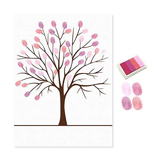 Beiguoxia Fingerabdruck-Malerei, Hochzeit, Geburtstag, Party, Schild, Unterschrift Gästebuch, Fingerabdruck, Gemälde, bedeutende Arbeit Einheitsgröße rose