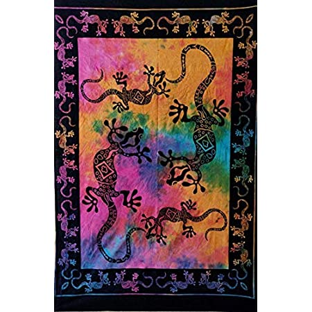 Poster Small Tapestry Wall Hanging Skull Modern Throw  Indian Art Purple Color