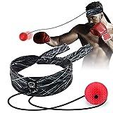 SYOSIN Boxing Reflex Ball, Pelota de Reflejos Boxeo con Diadema Ajustable, Entrenamiento de Velocidad de MMA Entrenamiento de Reacción Entrenamiento de Coordinación Mano-Ojo para Niños/Adultos