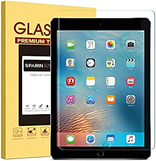 """New iPad 9.7"""" (2018 & 2017) / iPad Pro 9.7 Screen Protector, SPARIN Tempered Glass Screen Protector - Apple Pencil Compatible/High Definition/Scratch Resistant"""
