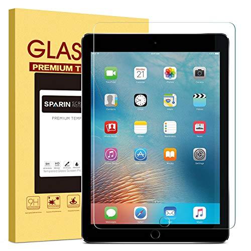 SPARIN Panzeglasfolie Kompatibel mit iPad 6. Generation/iPad Air 2/ iPad 5. Generation, Schutzfolie für iPad 9,7 zoll (2018/2017)