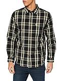 Carhartt Long-Sleeve Essential Open Collar Shirt Plaid Camisa, Black, 2XL para Hombre
