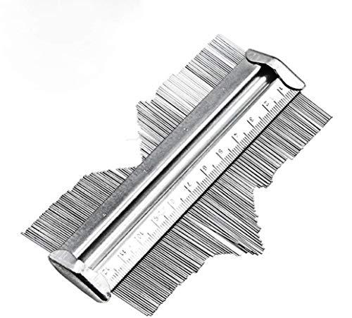 Hycy Misuratore di Profilo Irregolare Decorazione Profilo Acciaio Modello Profilato Profilato Piastrellatura Piastrelle Metalliche Acciaio 125MM
