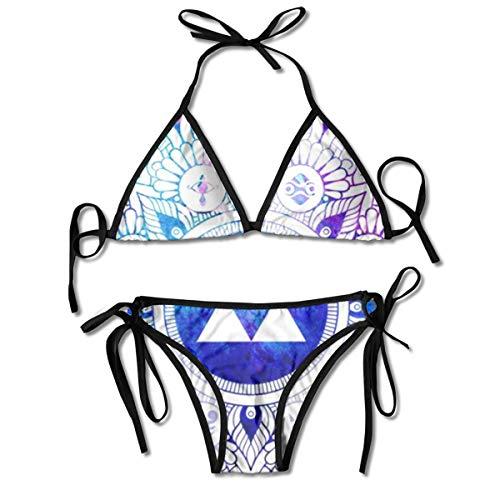 Funny Legend of A Zelda Mandala Packable Women Swimsuit Bikini Set Beach Resort(One Size