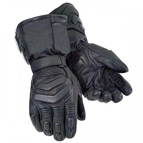 Bikers Gear Storm Winter Thinsulate Kevlar e Hipora - Guantes Impermeables (Talla XL), Color Negro