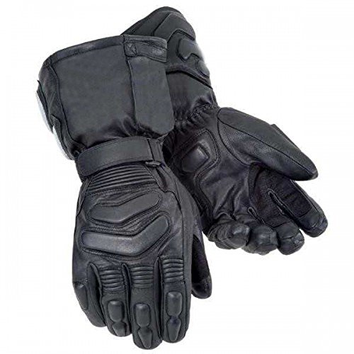 Bikers Gear Storm Winter Thinsulate Kevlar e Hipora - Guantes Impermeables (Talla XL), Color Negro