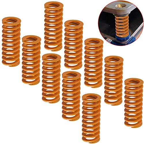 CESFONJER Stampante 3D molle 10pcs, compressione molla,0.31 in od 0.78 di lunghezza compressione m3 vite carico leggero,Creality cr-10 10s S4 Ender 3 scheda madre inferiore Connect livellamento