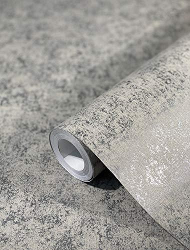 Tapete Champagner Beige Betonoptik glänzend Vliestapete für Wohnzimmer oder Schlafzimmer Made in Germany 10,05 x 0,53m Neu