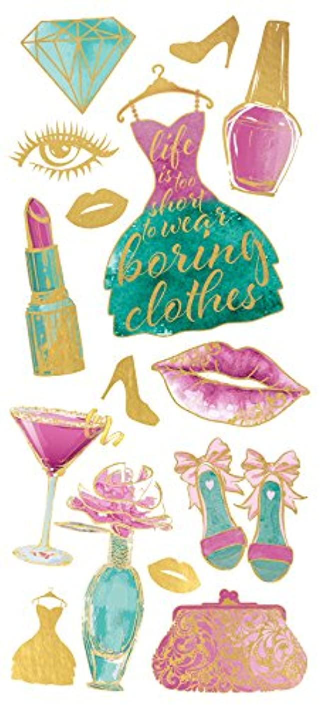 Paper House Productions Stickers Faux Enamel, Glam Fashion (3 Pack), 3 Piece wydtmzaxxiu910