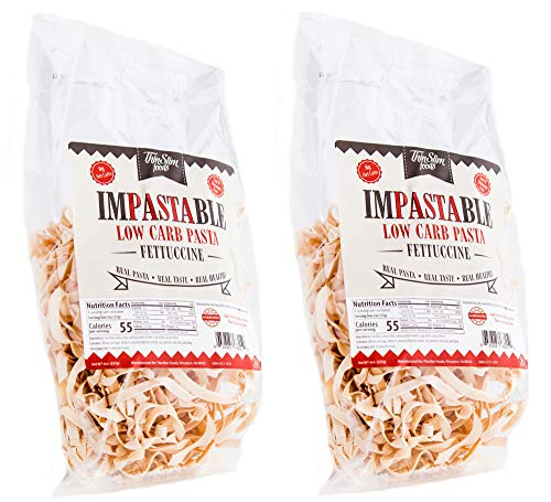 ThinSlim Foods Impastable Low Carb Pasta, Fettuccine 2pack | 8g Net Carbs | 55 Calories | No Shirataki | No Soy | No Pea or Bean Flour | Real Pasta, Real Taste, Real Healthy