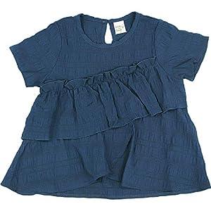[Bee] 韓国子供服 キッズ 女の子 半袖 半袖Tシャツ ティアード 140cm ネイビー