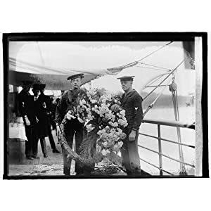 HistoricalFindings Photo: Wreath Placed on Washington's Grave by King of Belgium,National Photo Company