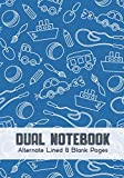 Dual Notebook Alternate Lined and Blank Pages: Blank and Lined Paper for Writing   Sketching   Doodling and illustrations, charts, alternate blank and ... geography, science, art 7 x 10 - 160 Pages.
