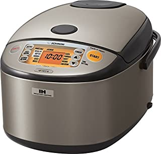 Zojirushi NP-HCC18XH Induction Heating System Rice Cooker and Warmer, 1.8 L, Stainless Dark Gray (Renewed)