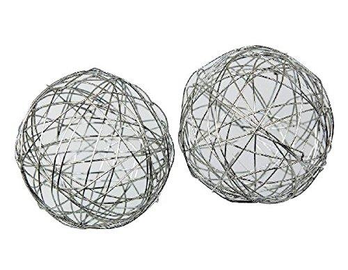 Schreiber Deko Lot de 8 Boules en métal Argenté 4 cm