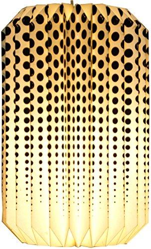Guru-Shop Origami Design Papier Lampenschirm - Modell Junos, 28x18x18 cm, Asiatische Deckenlampen aus Papier & Stoff