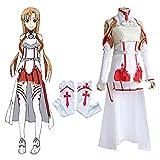 Sword Art Online Asuna Yuki Asuna Ropa de Batalla Hombre Exposición Fiesta Cosplay Disfraz-Ropa de Batalla_L