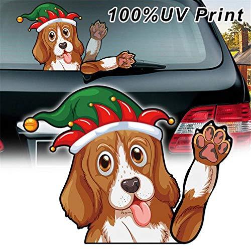 Achter ruitenwisser Sticker, Kerst Stickers Leuke Hond Waving Voorruit Wiper Decal Auto Styling