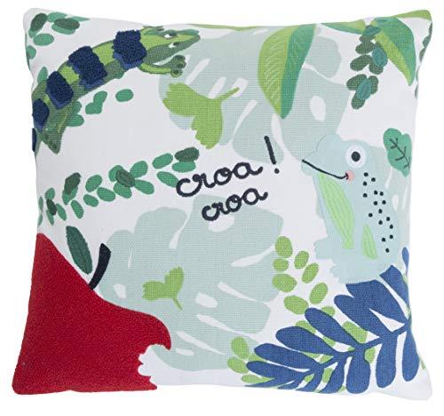Catimini – Kissen 40 x 40 cm für Kinder – Dschungel – 100 % Baumwolle