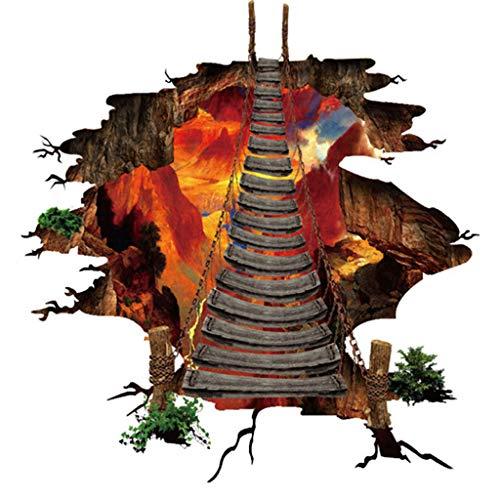Gaoqi Pegatinas de Pared de Piso llameante 3D calcomanías murales extraíbles Vinilo Arte Sala de Estar
