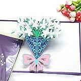 Cartolina d'auguri del mazzo di Gardenia Cartolina d'auguri stereo 3D