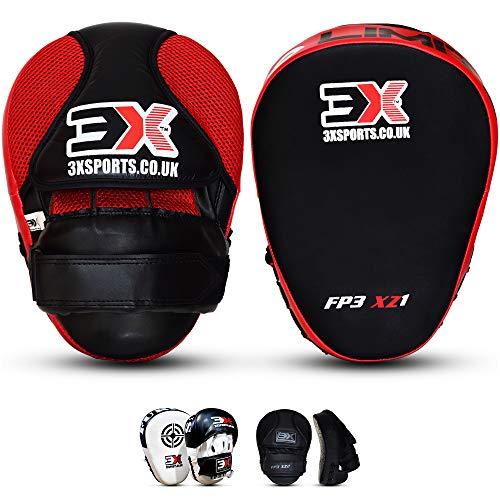 Bokspads MMA Hook Jab Doeltraining Muay Thai Krav Maga Ponsen Staking Kickboksen Vechtsporten Target Focus wanten (Verkocht als paar) (MULTI COLORS) (Red)