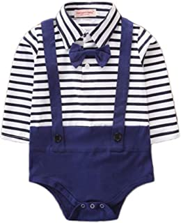 69b59da02e73 Licupiee Sibling Matching Striped Onesies Jumpsuit Baby Boy Girl Long  Sleeve Romper Toddler Bodysuit Suspenders Dress