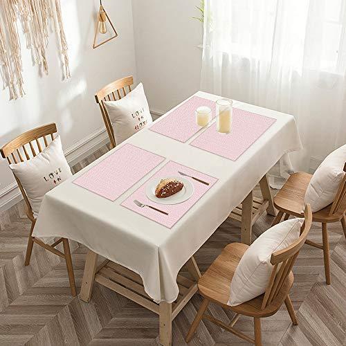 Sets de table de Rectangulaire lavables, durables, résistants à la chaleur et antidérapants,Géométrique, Vintage Rhombus entrelacés Rectangles avec Symmet,Salle à Manger de Cuisine de Fête (Lot de 4)