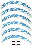 Zipp 808/Disc No Border Logo 700 c Complete for 1 x Wheel (Special Order) - Rueda para Bicicletas, Color Azul