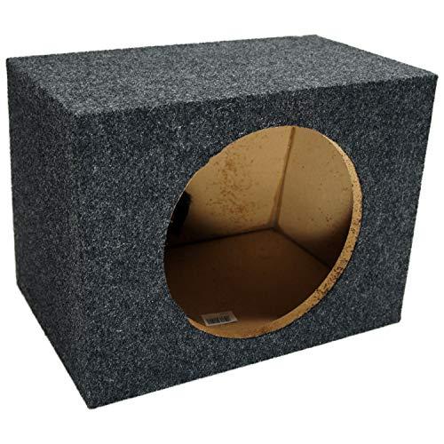 Car Audio Single 10' Sealed Subwoofer Rear Angle Sub Box Enclosure 5/8' MDF Wood
