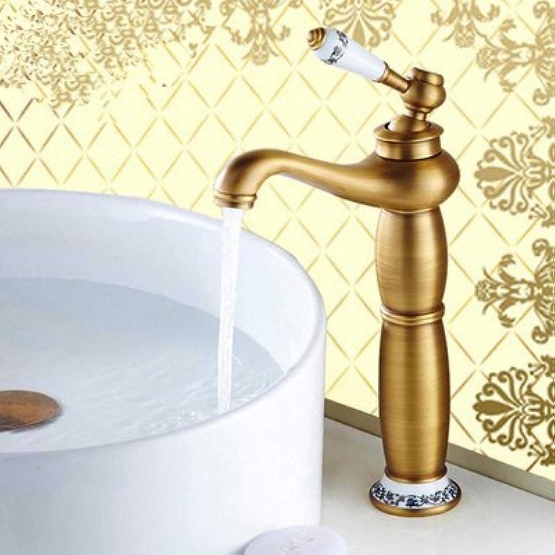 Bijjaladeva Bathroom Sink Vessel Faucet Basin Mixer Tap Antique basin faucet hot and cold gold bluee enamel pink gold single hole lowered basin washbasin plus high-leading antique b