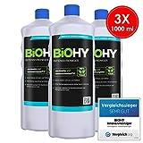 BIOHY Intensivreiniger (3x1 litre) | Nettoyant intensif universel 3 bouteilles de 1 litre | nettoyant industriel haute performance | nettoyant de base idéal pour les nettoyeurs haute pression