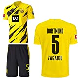 PUMA Borussia Dortmund BVB Heimset 2020 2021 Home Kit Sponsor BL Logo Herren Dan-Axel Zagadou 5 Gr XXL
