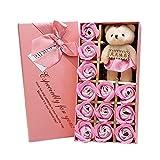 Balai 12 Stück Duftseife Rose Flower Petal Geschenkbox für Hochzeitsfestbevorzugung
