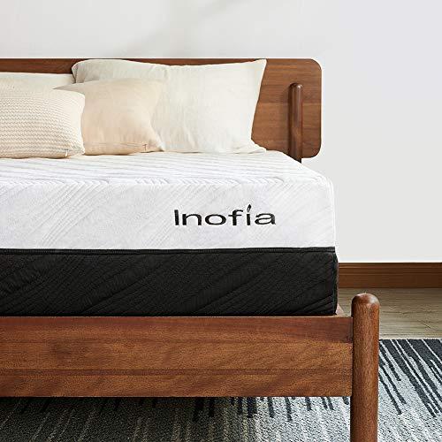 Full Mattress, Inofia Memory Foam Mattress 10 Inch Ergonomic Divided Zoned Bed 2 in 1 Flippable Firmness Mattress in a Box (Full)