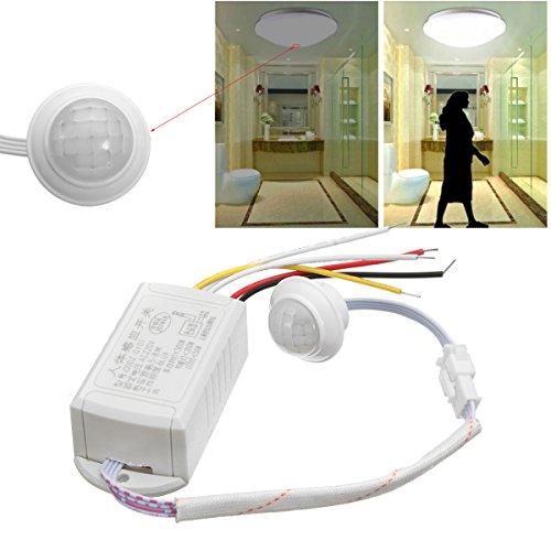 Ils - 220V 5-8M IR Movimiento del Cuerpo infrarrojo Sensor Interruptor de Control automático Inteligente de la luz Lámpara