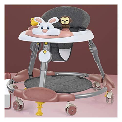 Olz El más Nuevo Andador para bebés, Andador Plegable para Actividades para bebés con Putter de Rueda, Andador para bebés Ajustable de 8 Alturas, Andador para bebés de 6 a 18 Meses de Edad,Carmine