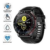 BYTTRON Bluetooth Smartwatch, Vollrunder Touchscreen IP68 wasserdichte Sports Watch mit Herzfrequenz...