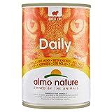 Almo Nature Daily Lot de 24 boîtes de 400 g pour Chat sans céréales avec Poulet