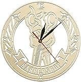 Reloj de pared grande Reloj de cocina Reloj de pared Poste de barbero Tijeras de peluquero Reloj de pared de peluquería de madera antiguo Peinado Logotipo de peluquero Decoración de carteles Arte de