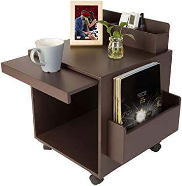 Drawer Rolling File Cabinet with Open Shelf, Modern Mobile Lateral Filing Cabinet Printer Stand with Wheels – Under Desk Offi