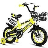 Nerioya Biciclette per Bambini, Adatte per Mountain Bike/Biciclette di 3-5-9 Anni, Biciclette per Bambini da 16 Pollici / 18 Pollici / 21 Pollici / 23,6 Pollici con Ruote Flash, Stabilizzatori,D,18in