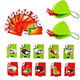 Catch Bugs Games Funny Desktop Game Toys Frog Mask Wagging Tongue Lick Cards Board Game for Kids Family Party Toys